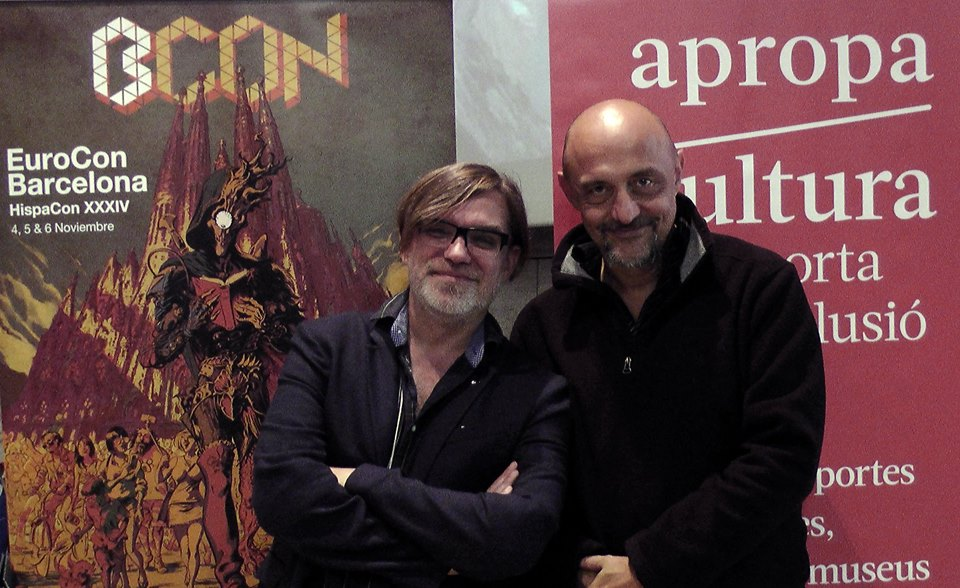 with Roberto Quaglia at Eurocon 2016 in Barcelona