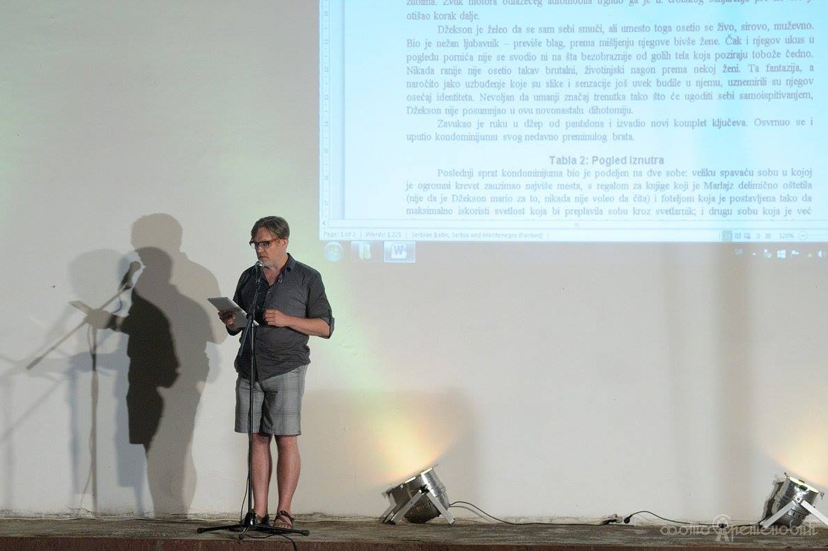 "performing ""Diptych"" on the opening night of Kikinda Short 11"